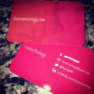 Lauren Marinigh Business Cards
