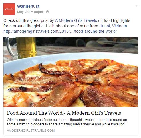 Wanderlust Facebook POst